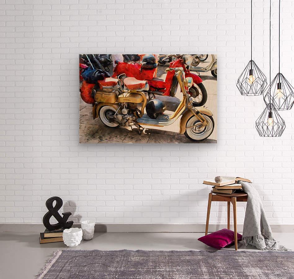 Make Mine a Lambretta  Wood print