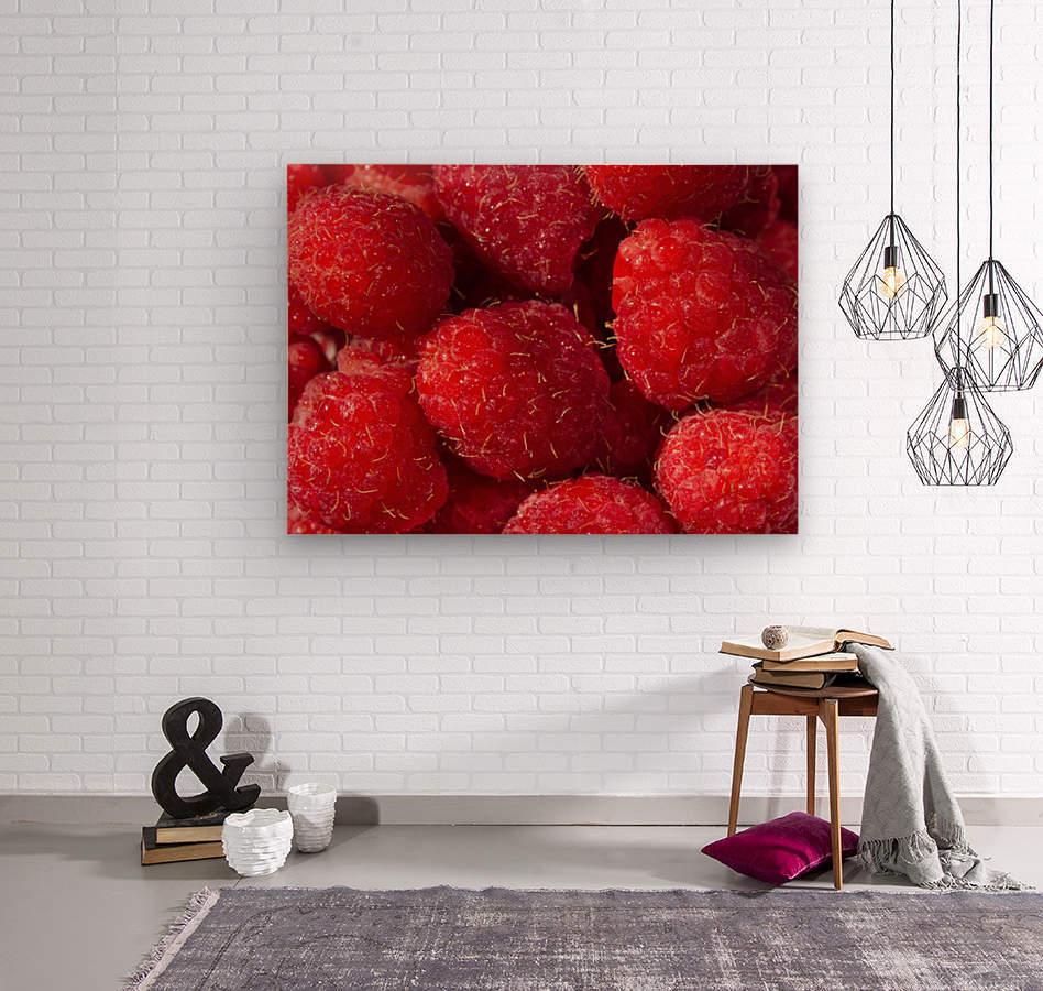 Raspberry leaf  Wood print