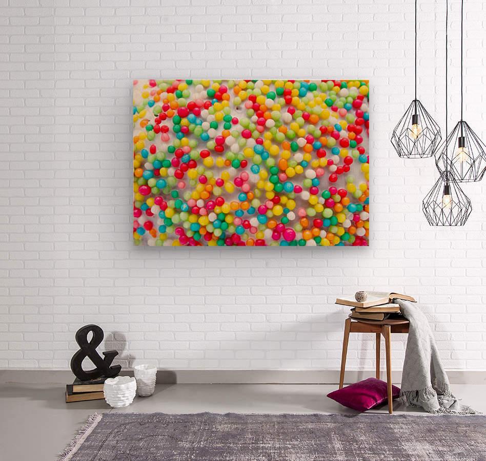 Colors of rainbow  Wood print
