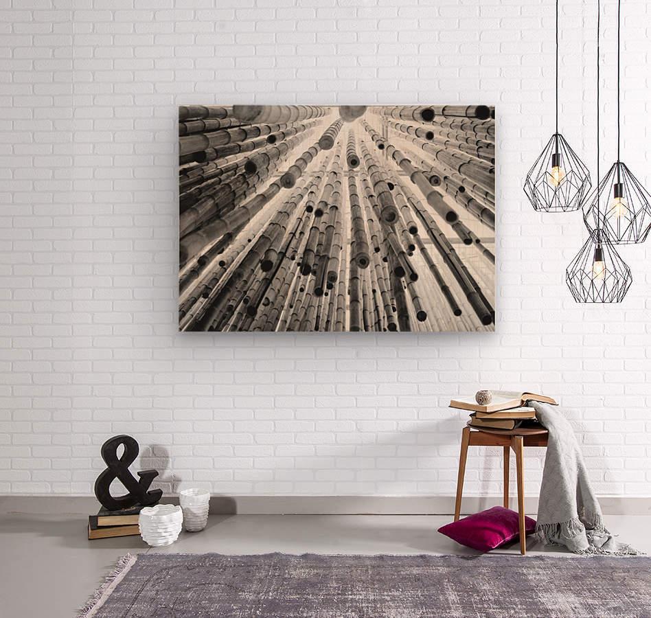 bamboo falling  Wood print