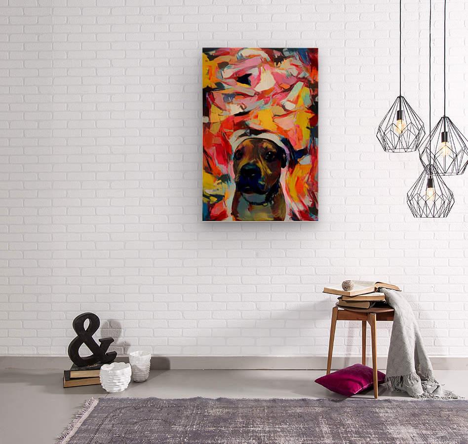 Dog Painting (10)  Wood print