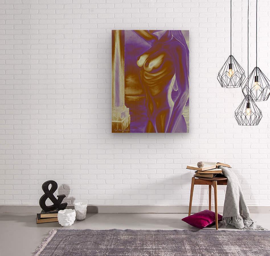 Violet Inspiration  Wood print