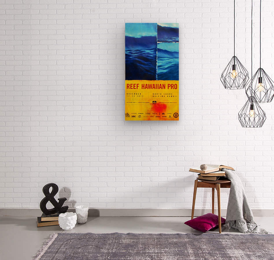 2012 REEF HAWAIIAN PRO Surfing Competition Print  Wood print