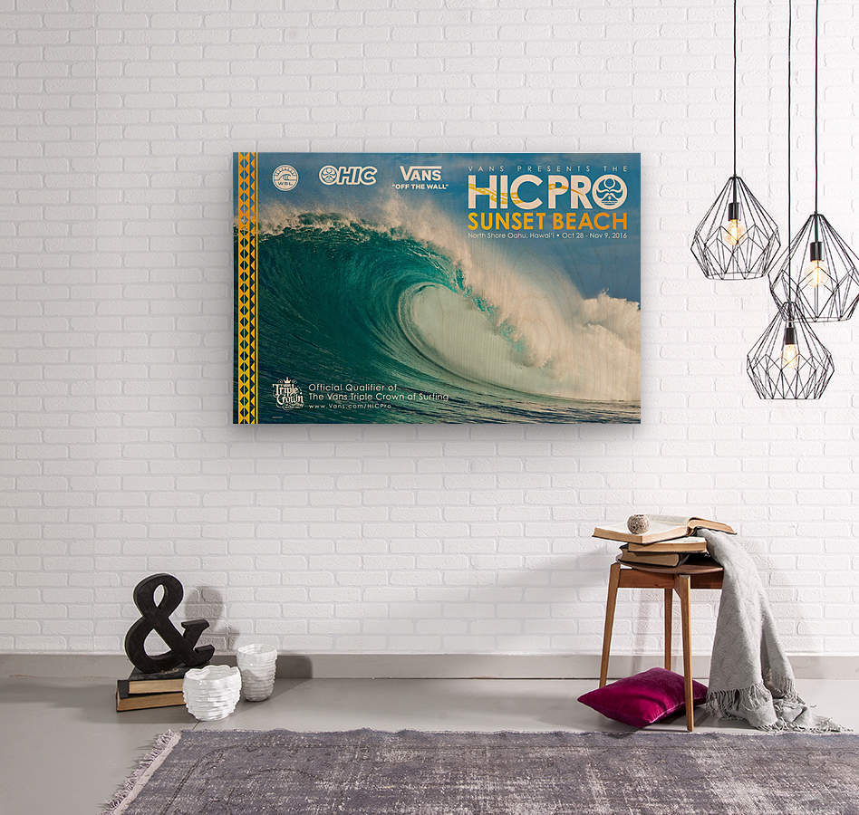 2016 VANS HIC PRO SUNSET BEACH Competition Print  Wood print