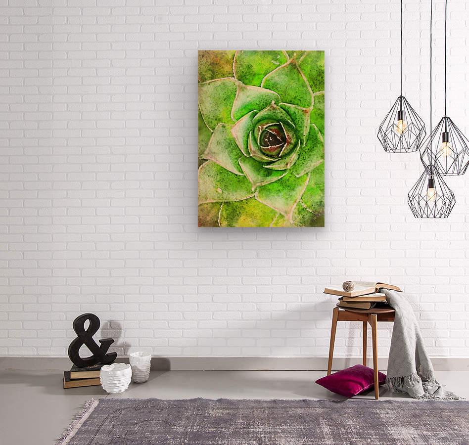 Flowers art  Wood print