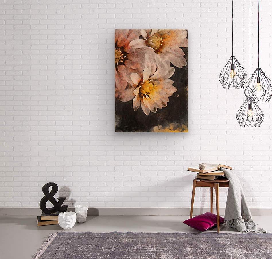 Flowers art  Wood print