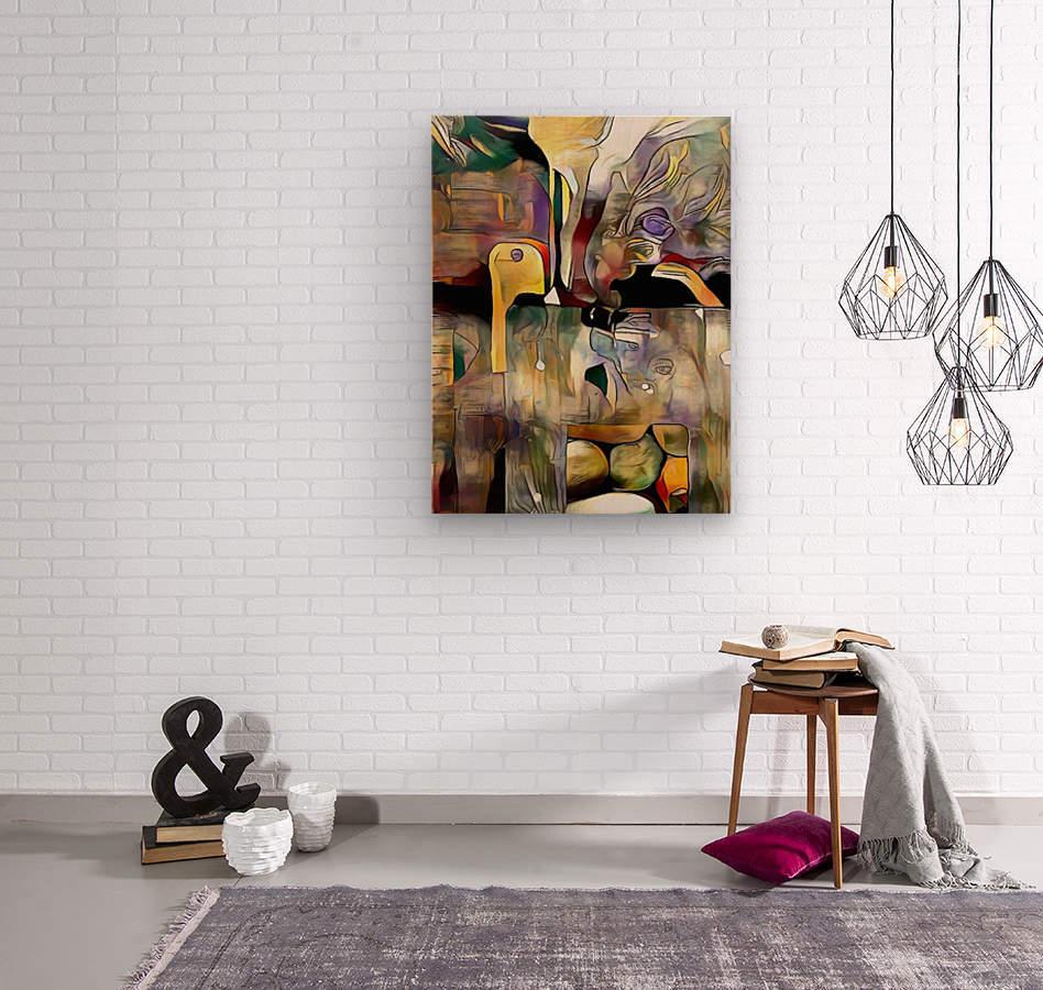Modern Abstract  Wood print