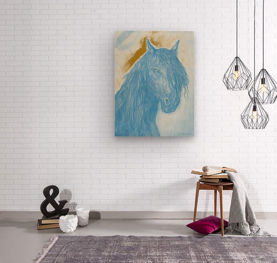 Horse Spirit  Wood print