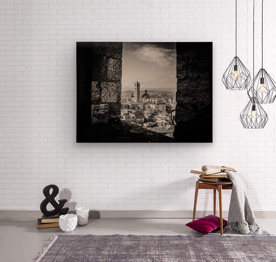 Bnw Siena Tower  Wood print