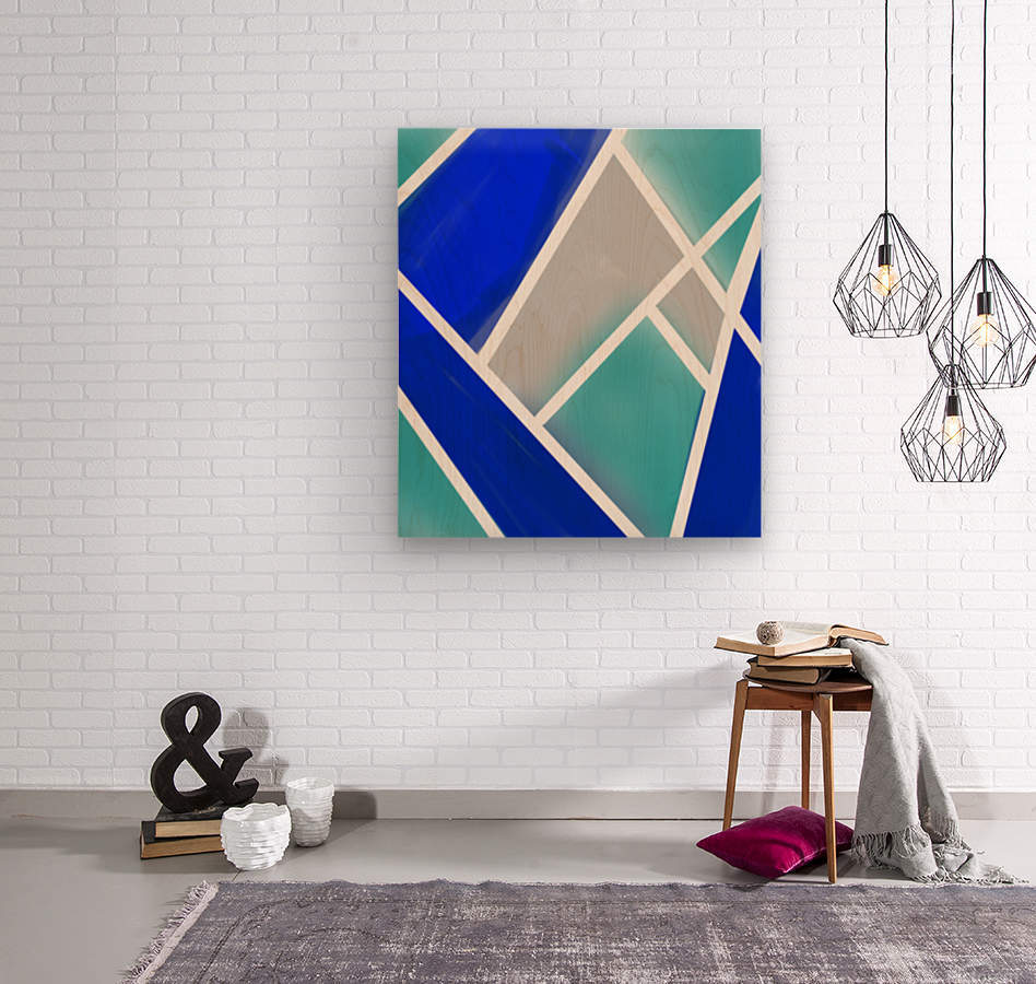 Quilted Geometric   Wood print