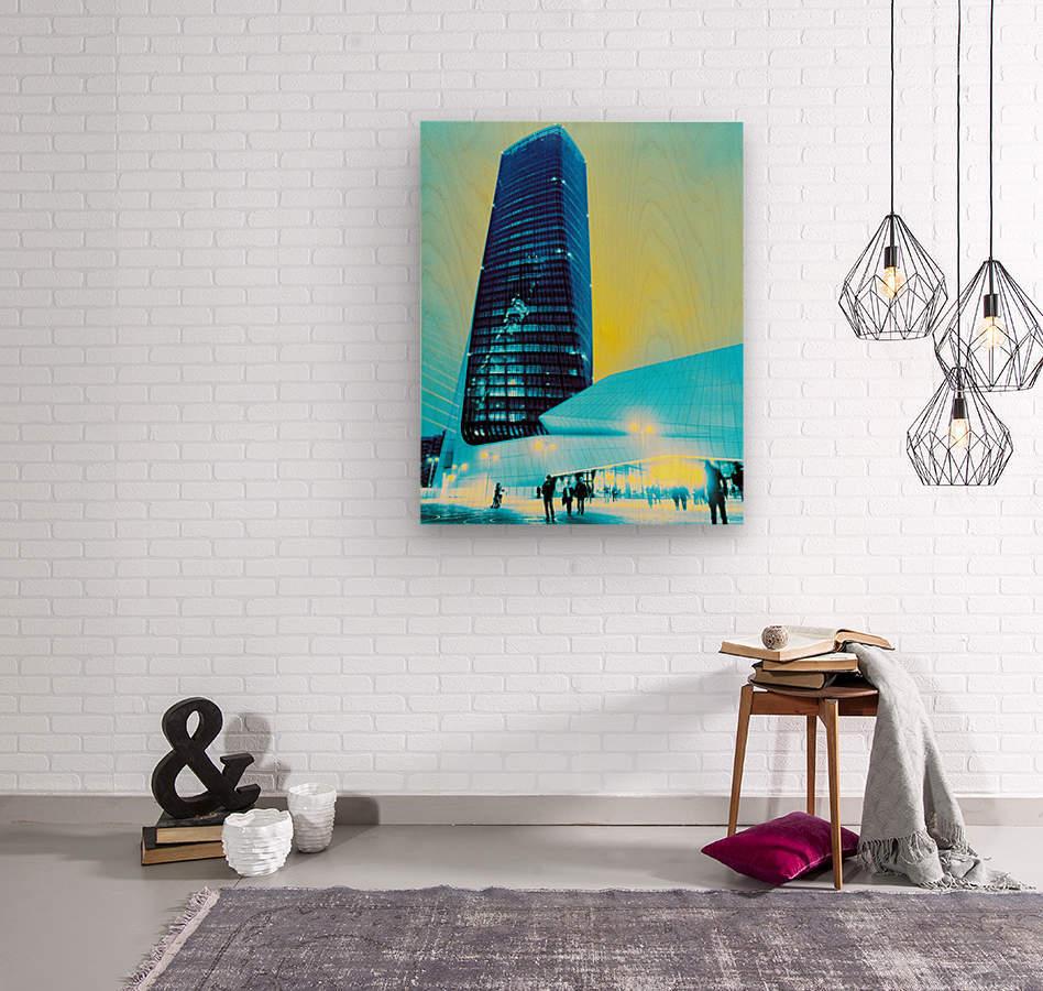 Tower  Wood print