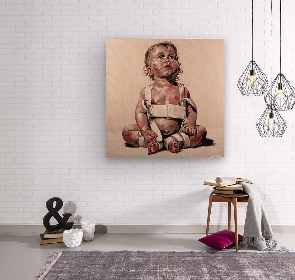 Harnais  Wood print