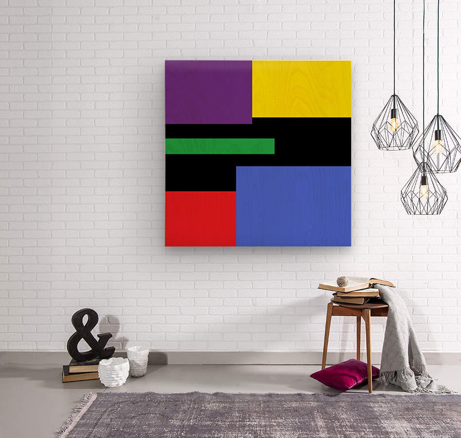 This is a beautiful design with great color, shape, line, texture, space and value.  (35)  Wood print