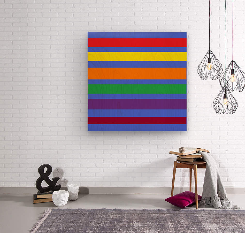 This is a beautiful design with great color, shape, line, texture, space and value.  (30)  Wood print