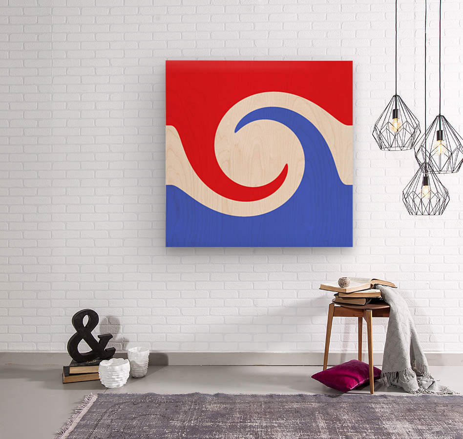 This is a beautiful design with great color, shape, line, texture, space and value.  (2)  Wood print