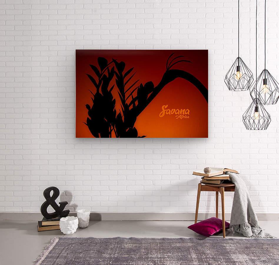 Savana Africa  Wood print
