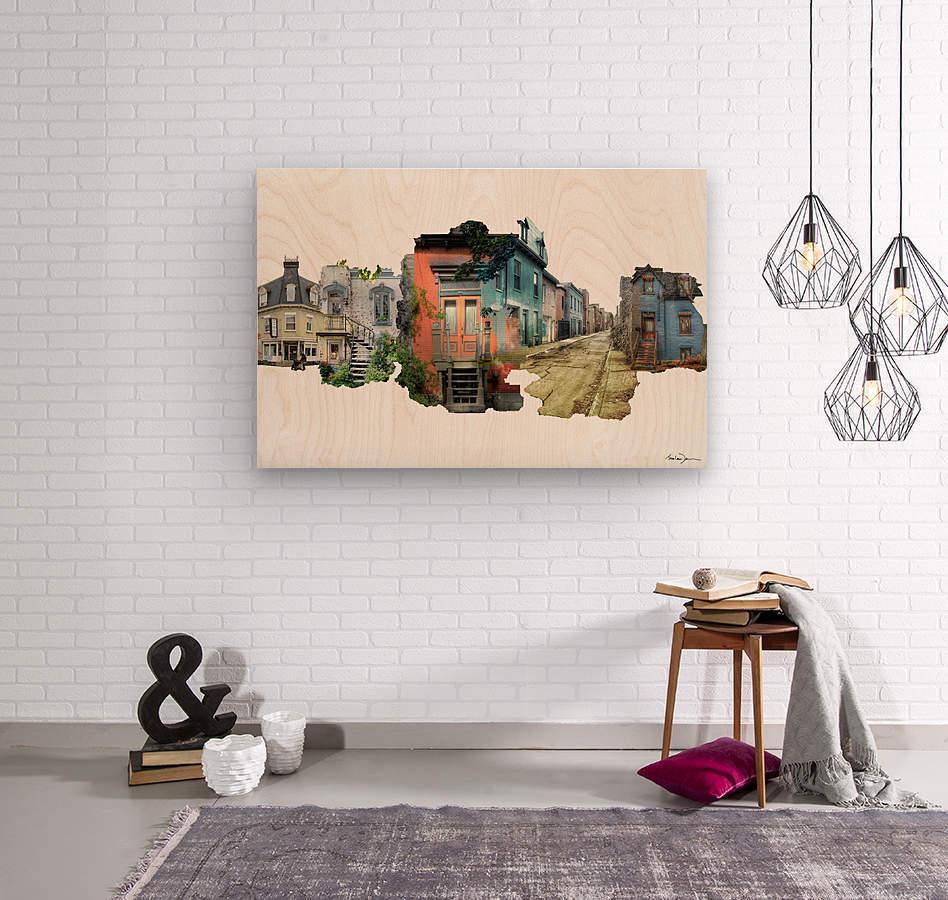 Maisons de Montréal  Wood print