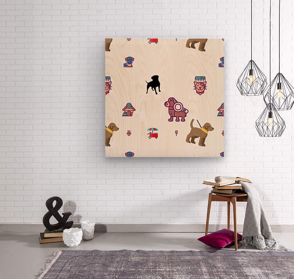 Dog (19)  Wood print
