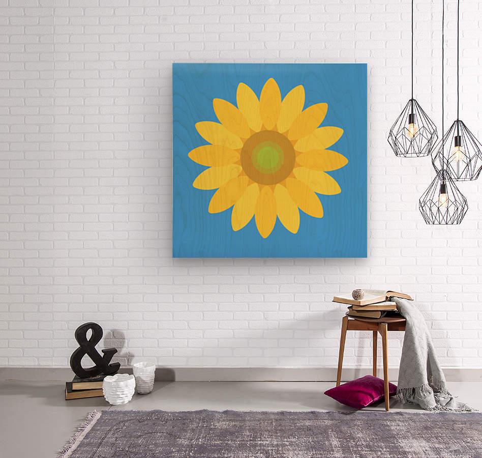Sunflower (13)_1559875861.0802  Wood print