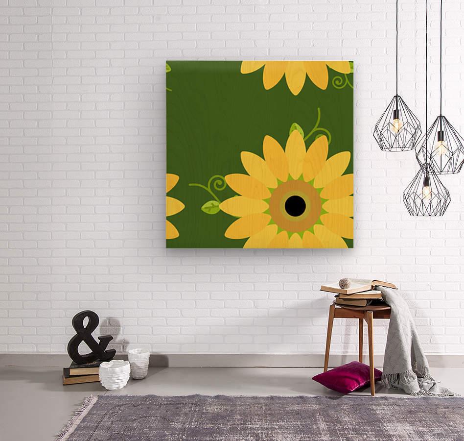 Sunflower (59)_1559876248.3591  Wood print