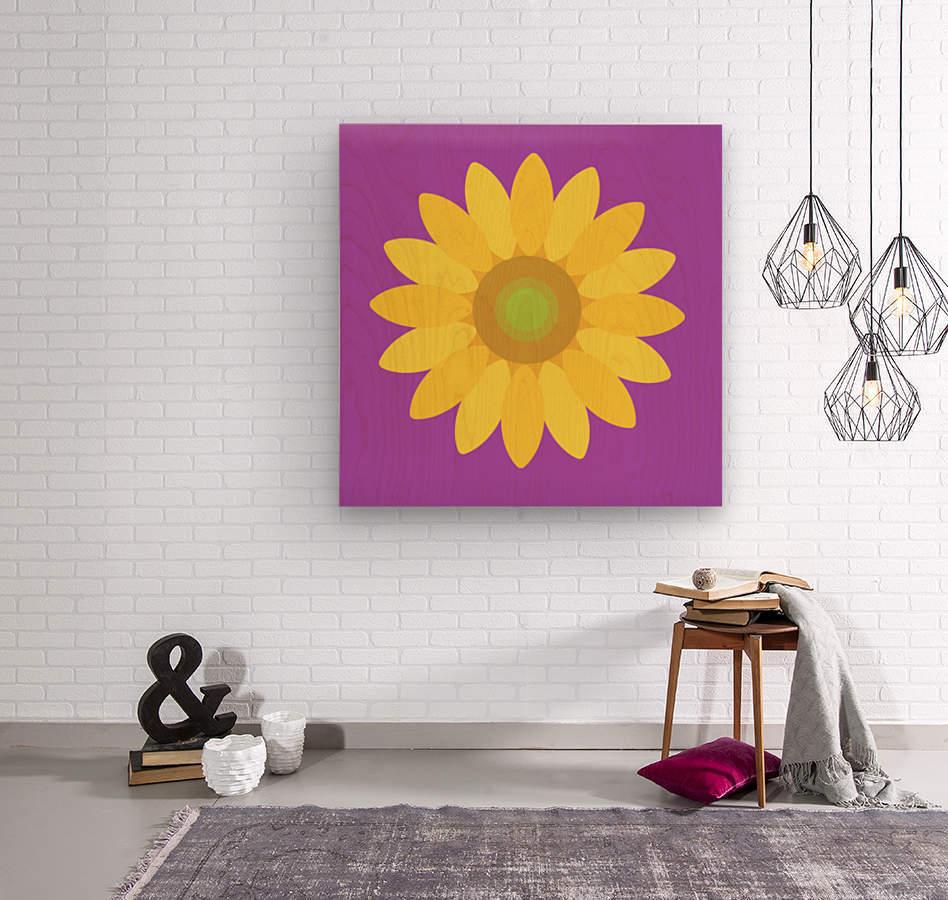 Sunflower (11)_1559876482.665  Wood print