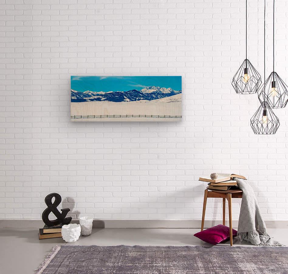 Mountain-Pano  Wood print