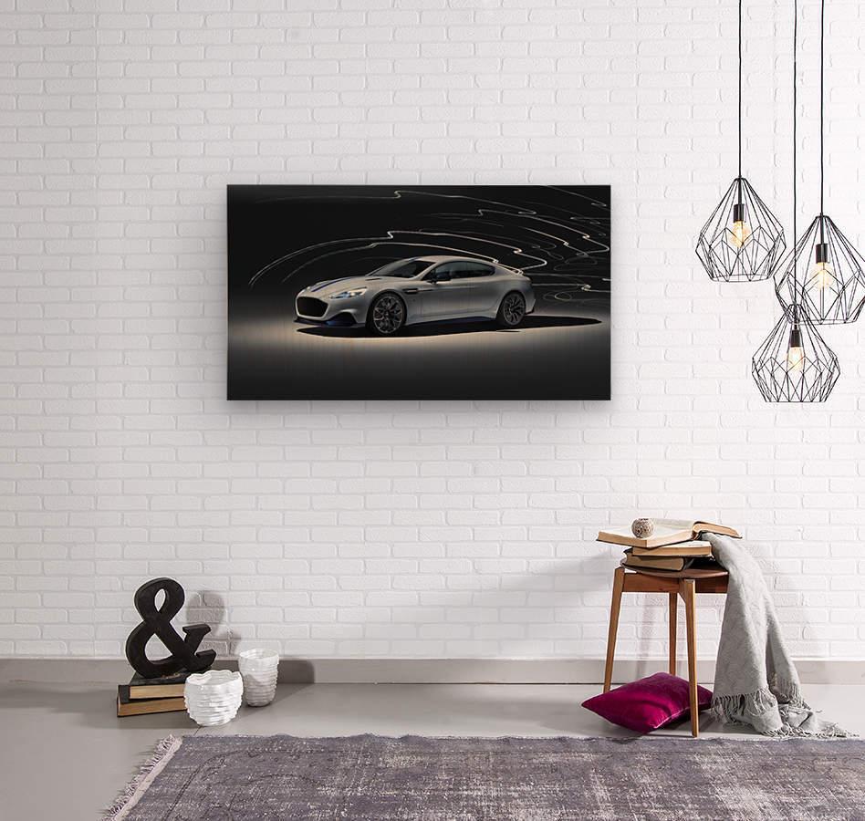 Aston martin rapid Car  Wood print