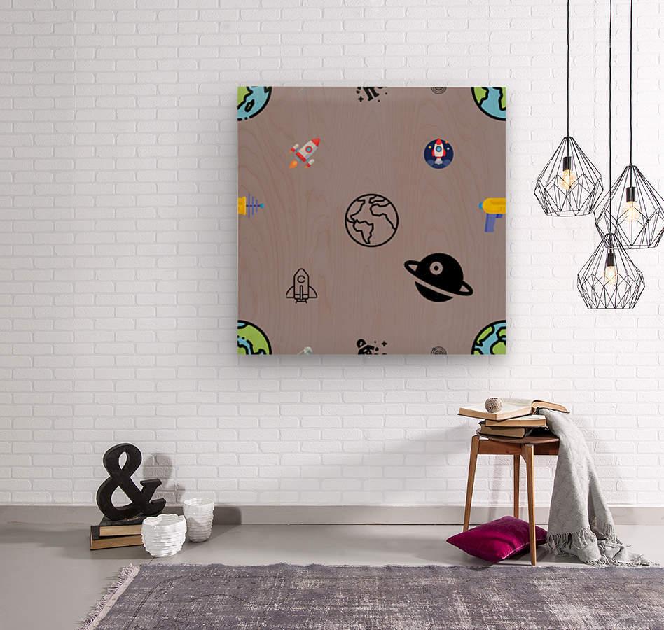 Space (5)  Wood print