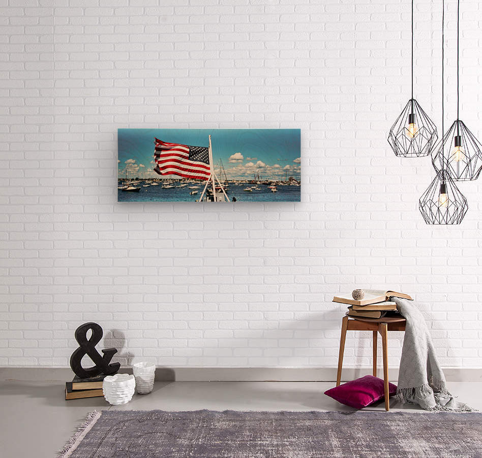 Newport Rhode Island - Harbor View  Wood print