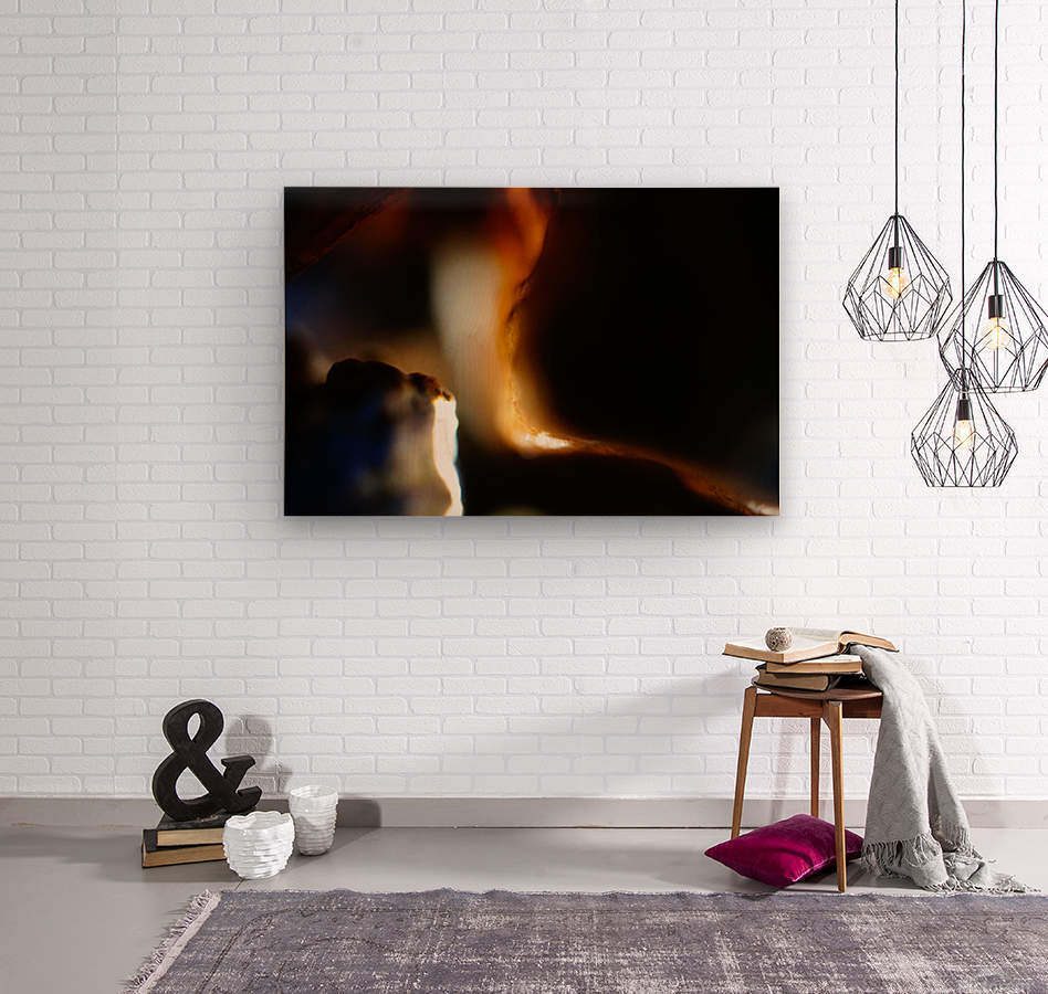 Abstract Macro Nature Photography 53  Wood print