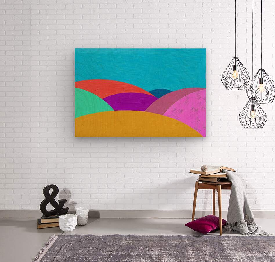 Fabulous hills  Wood print