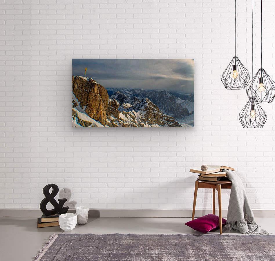 Zugspitze  Wood print