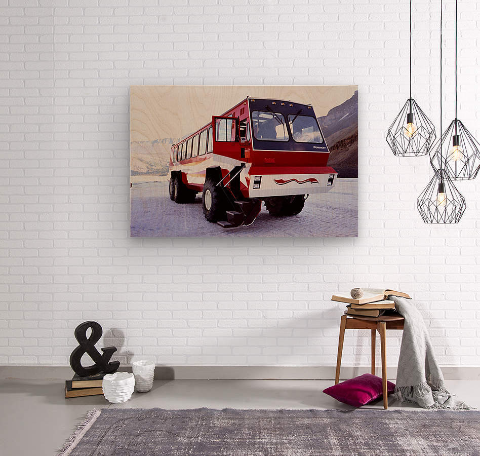 Snow Coach To The Columbian Ice Fields - Canada  Wood print