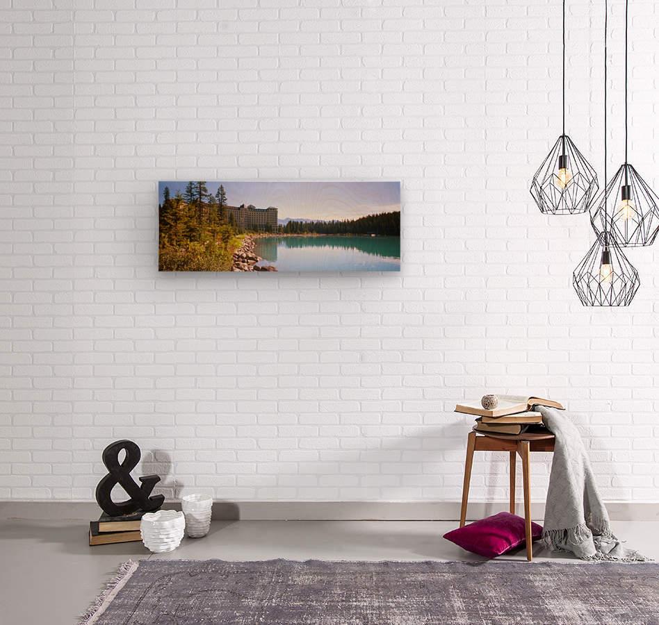 Lake Louise - Banff Canada  Wood print