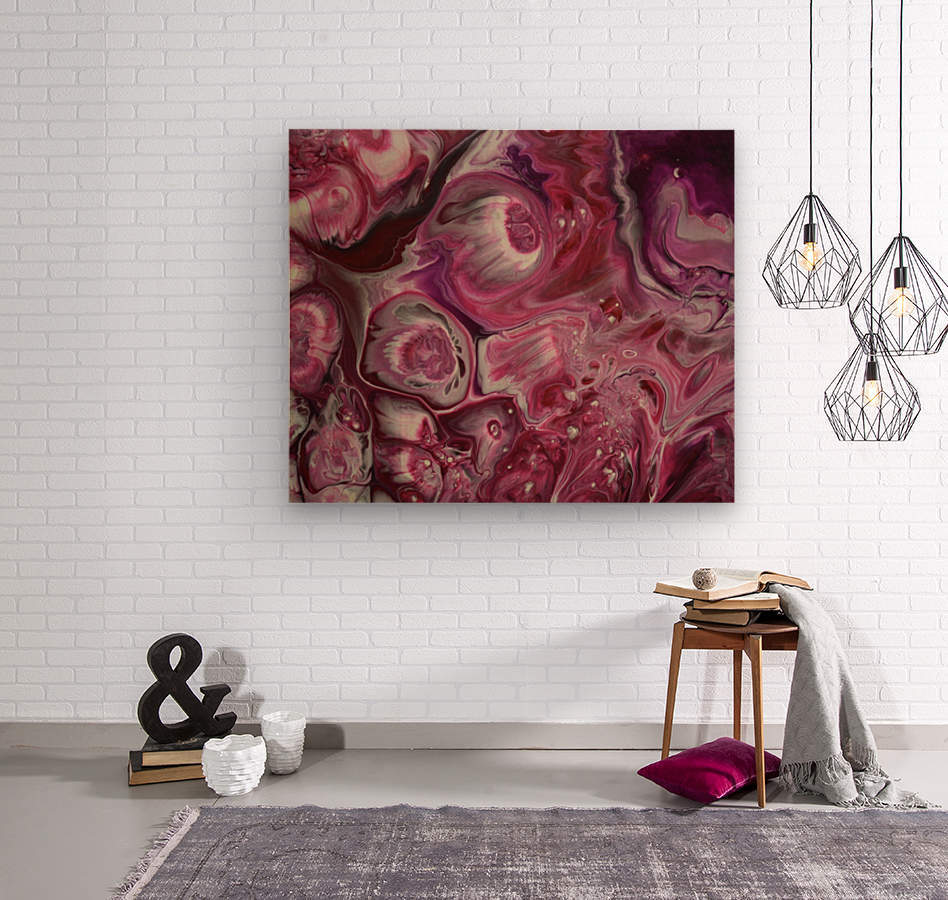 Raspberries & Cream  Wood print