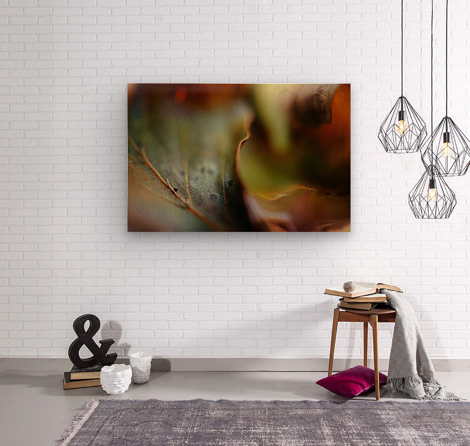 Abstract Mystic and Colourful Leaf 03  Wood print