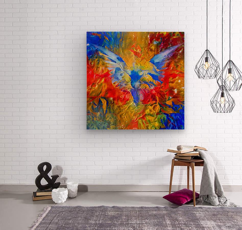 Flaming Eye of God  Wood print