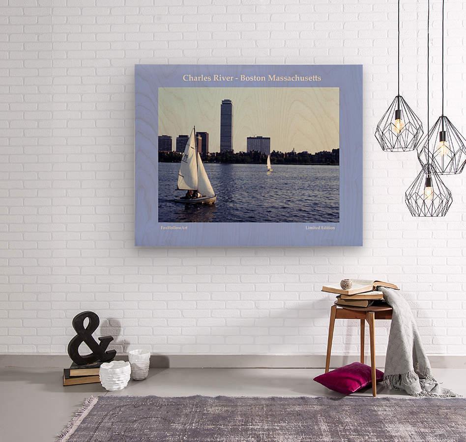 Sailing The Charles River - Boston Massachsuetts  Wood print