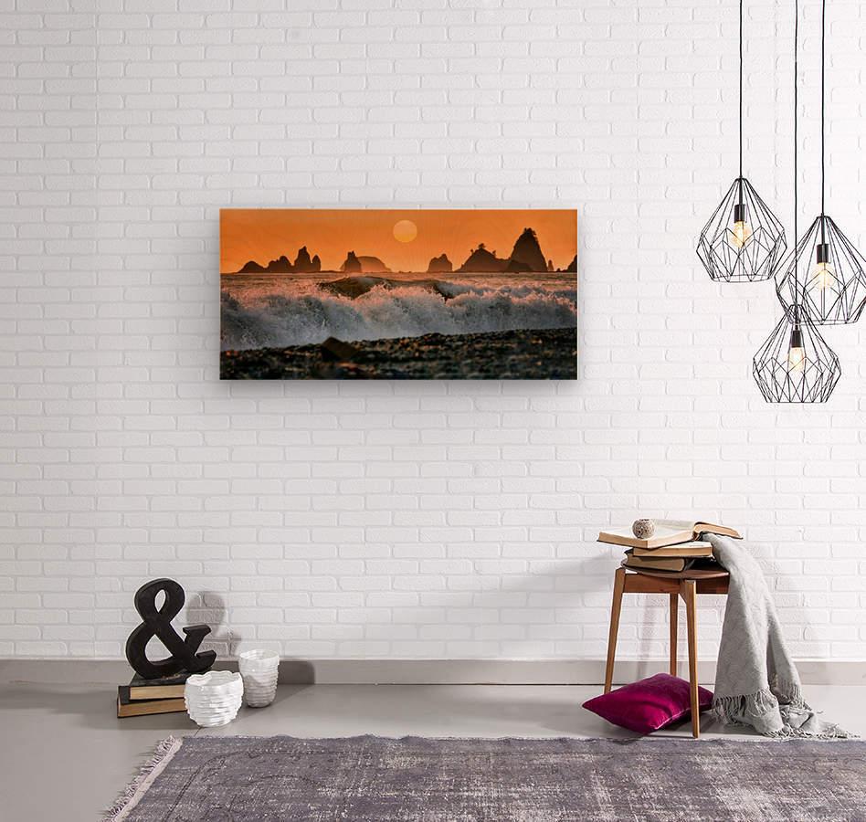 Sea Stacks at Rialto Beach  Wood print
