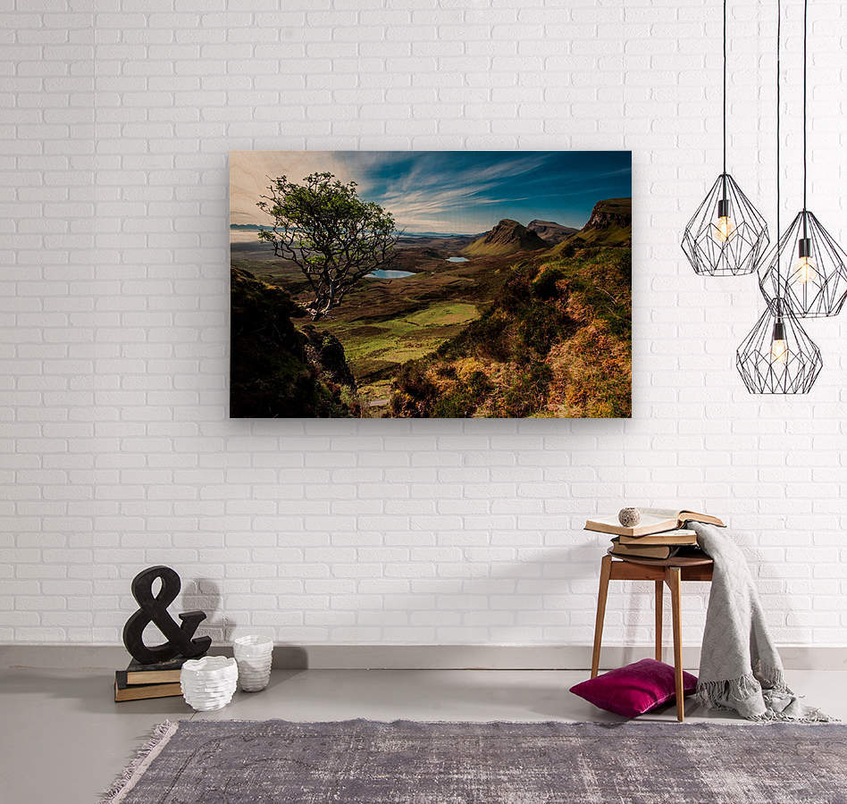 landscape quairaing scotland  Wood print