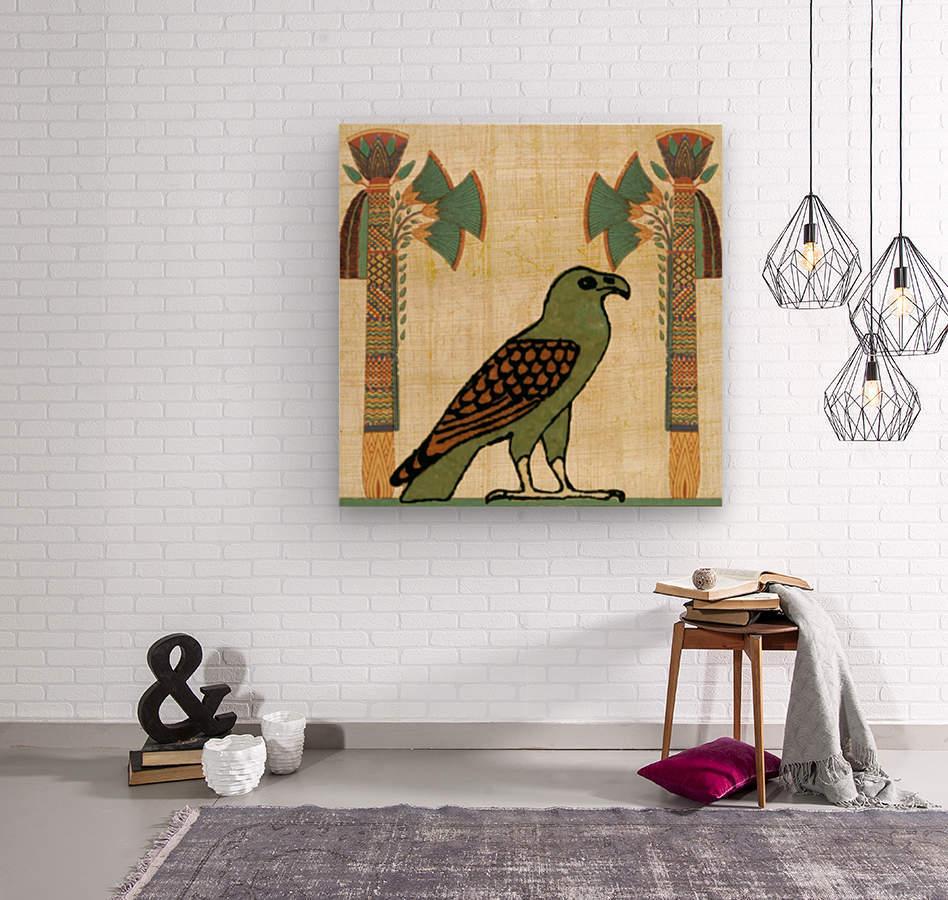 egyptian paper papyrus bird  Wood print