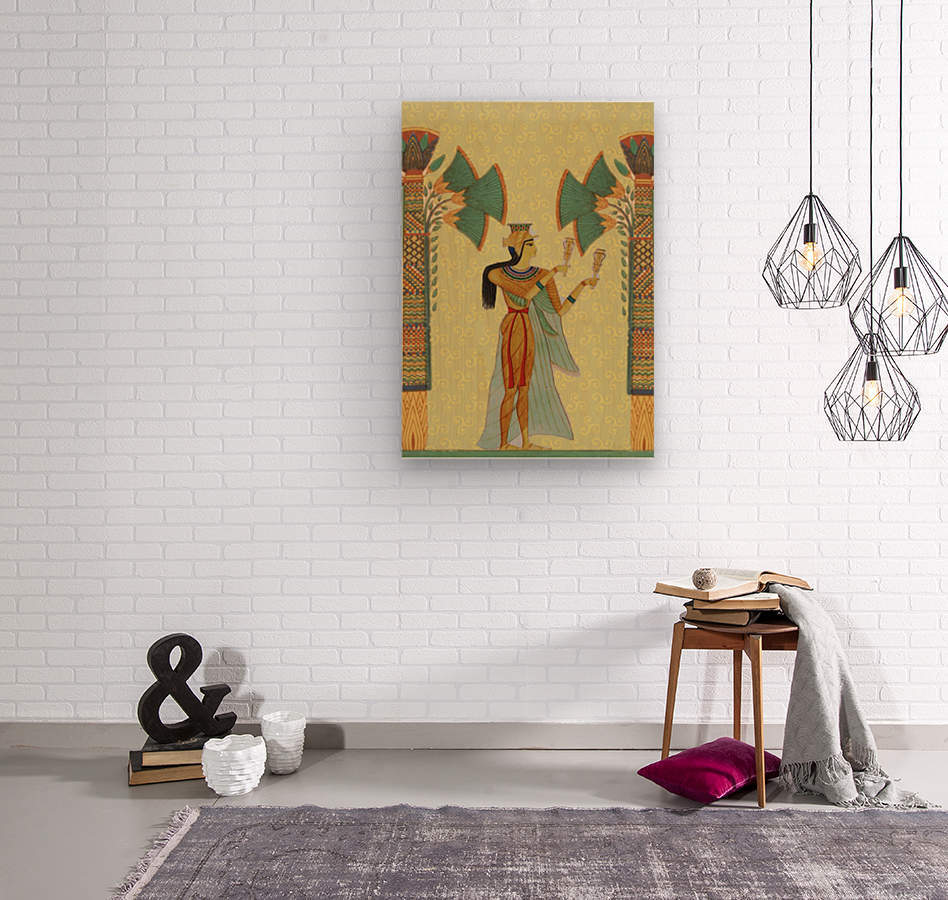 egyptian design man artifact royal  Wood print
