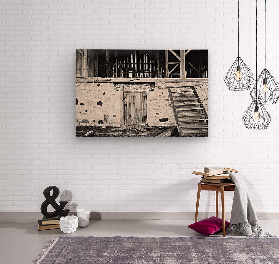 Barn Steps  Wood print