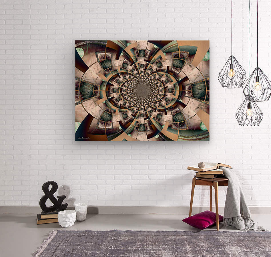 Graphic Ornamental Colorful  Wood print