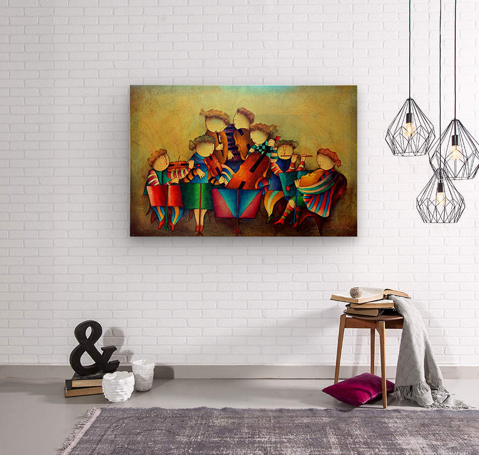 The Musicians   Wood print
