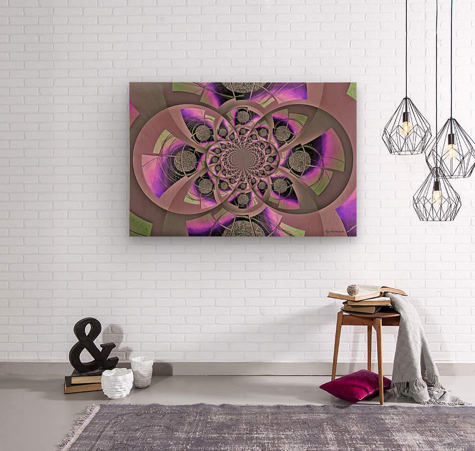 Mirror Infinity Lilac  Wood print
