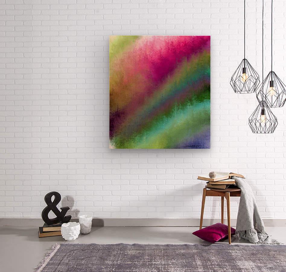 Color Burst - Flower Field  Wood print