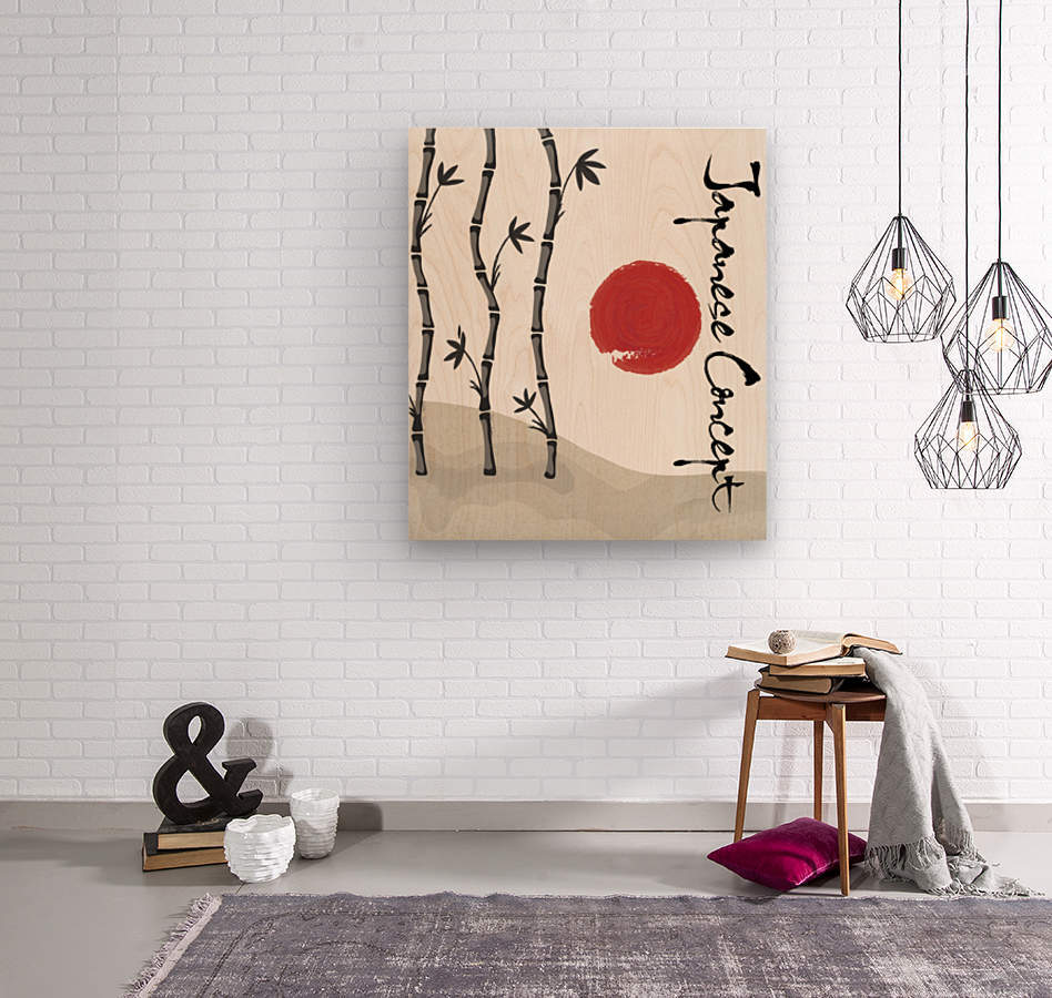 Japanese Concept 01A  Wood print