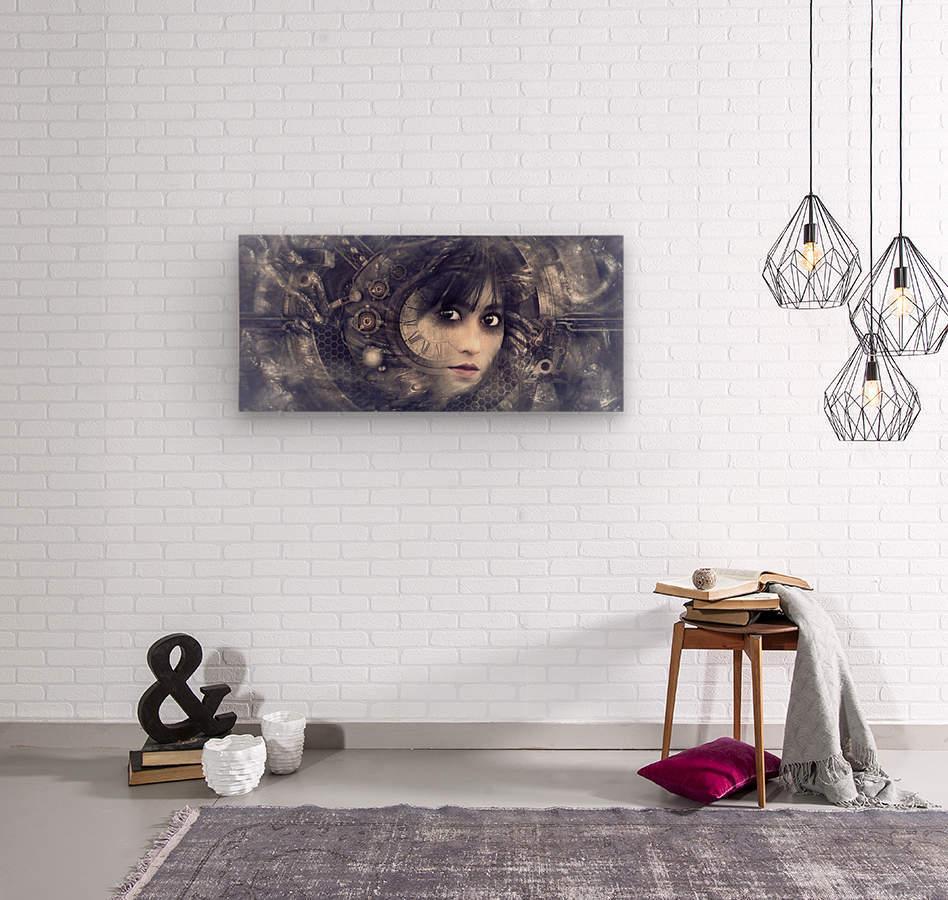 fantasy portrait magic mystical  Wood print