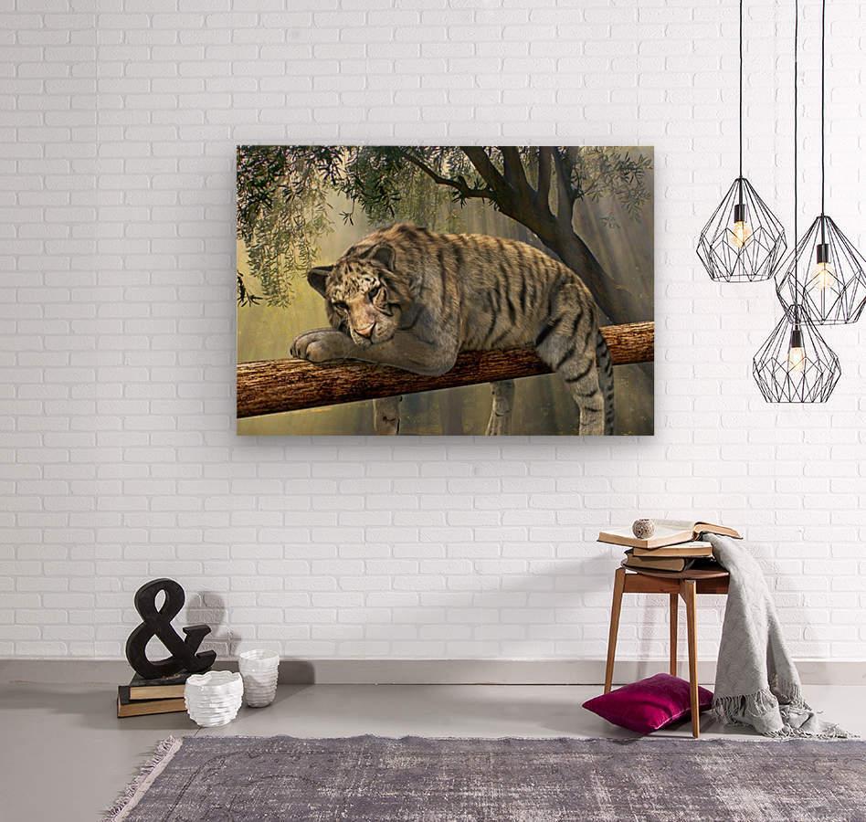 tiger animal jungle rainforest  Wood print